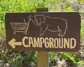 reds meadow campground sign