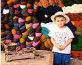 Kids at the bazaar in India