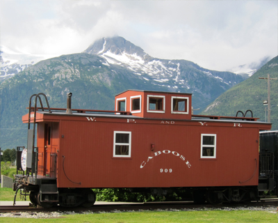 caboose white pass yukon route railroad