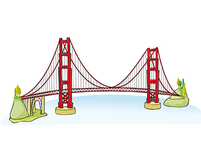 Travel for Kids California for Golden Gate Bridge Drawing Step By Step Bridge Drawing For Kids