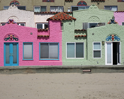 california capitola colored houses