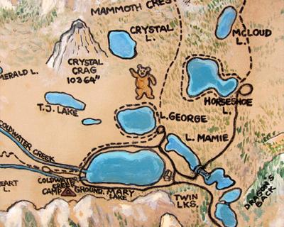 mammoth lakes basin map