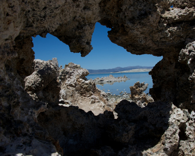 looking through tufa