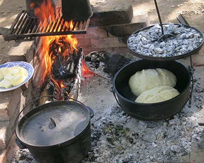 coloma gold rush live baking bread wood fire