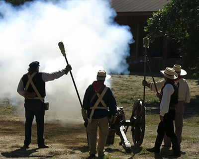 coloma gold rush live cannon firing demonstration