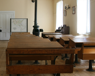 california columbia interior schoolhouse