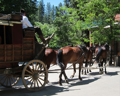 california columbia stagecoach rides