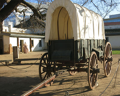 covered wagon sutter's fort