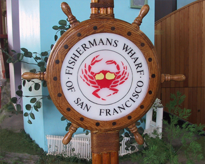 toy sign of fishermans wharf
