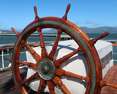 san francisco maritime national historic park hyde street pier balclutha helm