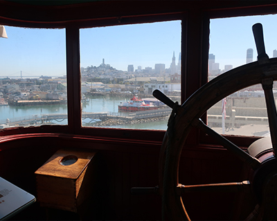 san francisco maritime national historic park hyde street pier eureka wheelhouse