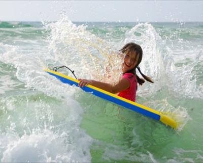 girl boogie boarding