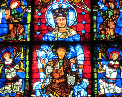 chartres cathedral blue virgin stained glass