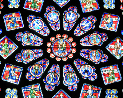 north rose window chartres cathedral