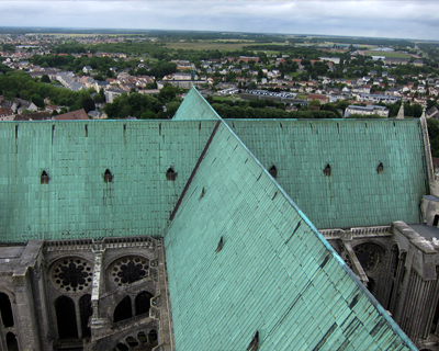 chartres cathedral view from north tower