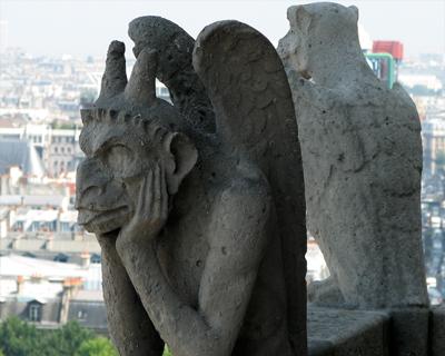 notre dame gargoyles pensive demon
