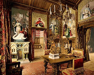 neuschwanstein castle dining room