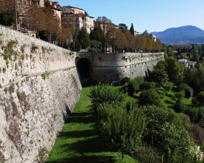 bergamo old city walls