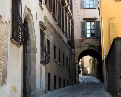 bergamo streets citta alta old city