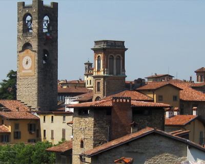 bergamo old city upper town citta alta