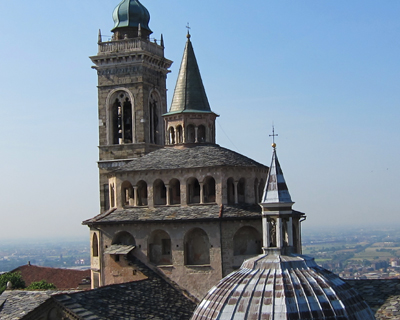 bergamo view from torre civica