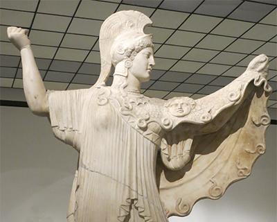 athena promachos villa papyri herculaneum naples archeological museum