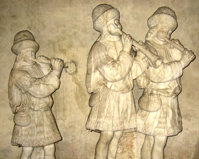 relief three musicians bargello museum