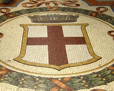 milan galleria mosaics