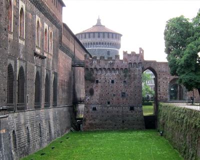 sforza castle dry moat