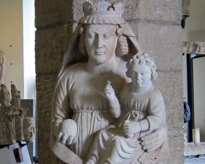 sforza castle madonna child museum ancient art