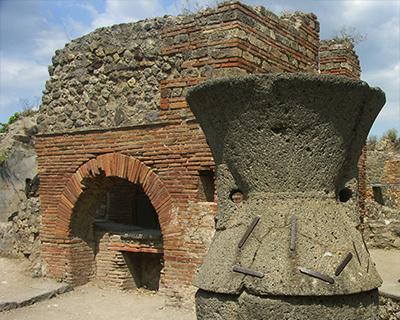 pompeii bakery oven mill