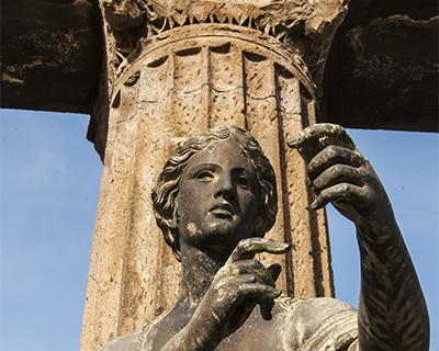 statue of apollo temple of apollo pompeii