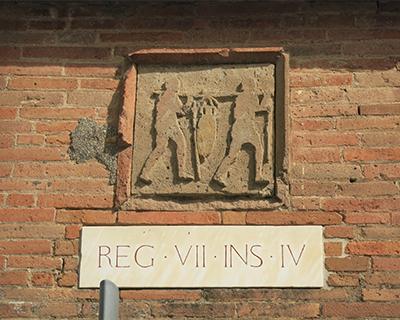 street marker pompeii