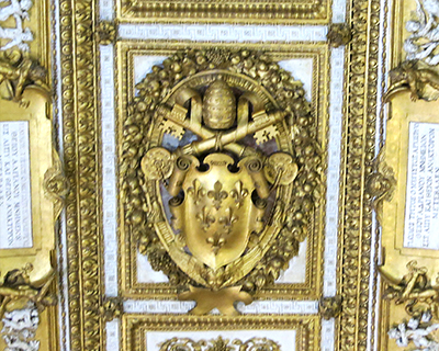 castel sant'angelo farnese papal coat of arms