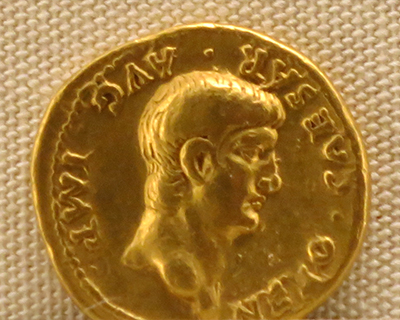palazzo massimo alle terme gold coin nero 1st century