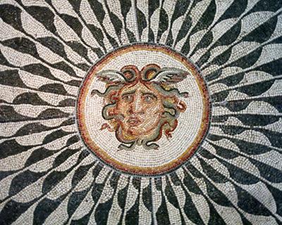 palazzo massimo alle terme mosaic head of medusa
