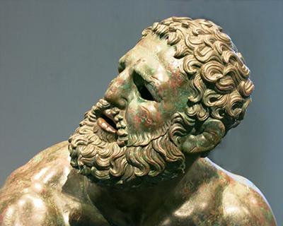 palazzo massimo alle terme the boxer greek bronze statue
