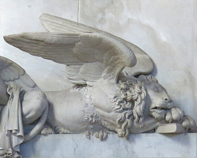 sleeping lion canova tomb gloriosa dei frari venice