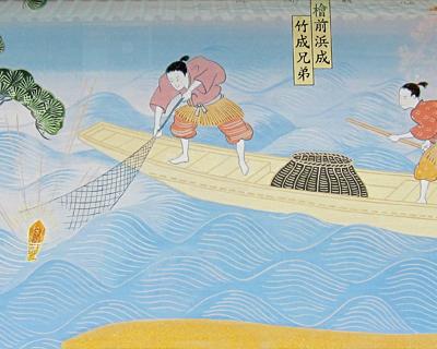 mural sensoji founding temple kannon statue