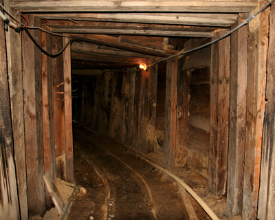 inside the chollar mine