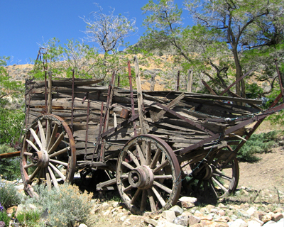 virginia city nevada old wooden wagon