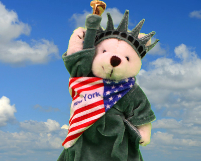 statue liberty teddy bear