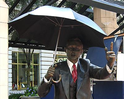 weather man statue pioneer square portland