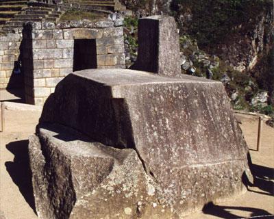 intiwatana stone machu picchu