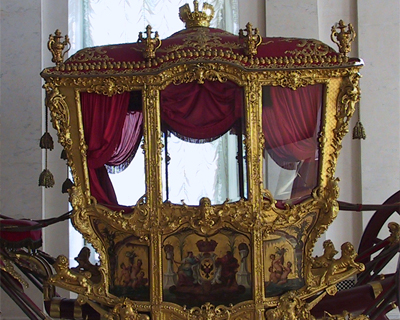 russia st petersburg hermitage museum coronation carriage peter great
