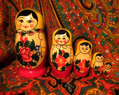 russia st petersburg nesting dolls souvenir