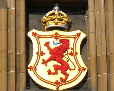 royal emblem scotland red rampant lion