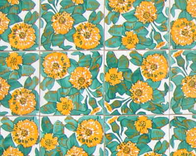 flower tiles casa vincens barcelona