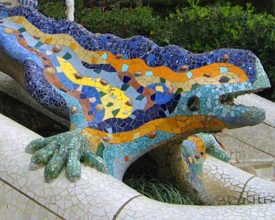 mosaic dragon park guell barcelona