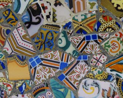 park guell mosaics trencadis